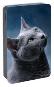Russian Blue Cat Portable Battery Charger