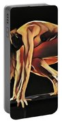 7188s-amg Nude Watercolor Of Sensual Mature Woman Portable Battery Charger by Chris Maher
