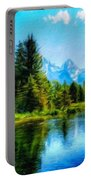 Landscape Drawing Nature Portable Battery Charger