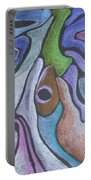 #758 Abstract Drawing Portable Battery Charger
