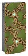 Fractal Floral Pattern Portable Battery Charger