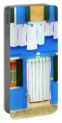 Burano Anisland Of Multi Colored Homes On Canals North Of Venice Italy Portable Battery Charger