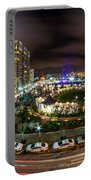 Charlotte City Skyline At Night  Portable Battery Charger
