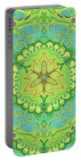 Indian Fabric Pattern Portable Battery Charger