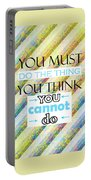 Quotes About Life Portable Battery Charger