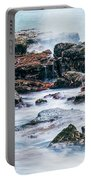 Rocks And Waves At Point Cartwright  Portable Battery Charger