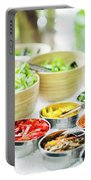 Salad Bar Buffet Fresh Mixed Vegetables Display Portable Battery Charger