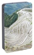 Terrace Fields Scenery In Spring Portable Battery Charger