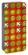 Tic Tac Toe Wooden Board Generated Seamless Texture Portable Battery Charger