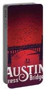 Austin's Congress Bridge Bats Illustration Art Prints Portable Battery Charger
