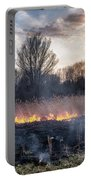 Fires Sunset Landscape Portable Battery Charger