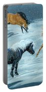 #9 - Ponies In Snow Portable Battery Charger