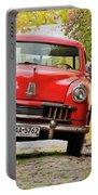 Vintage Car In Colonia Del Sacramento, Uruguay Portable Battery Charger
