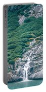 Waterfall In Tracy Arm Fjord, Alaska Portable Battery Charger