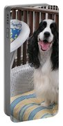 #940 D1036 Farmer Browns Springer Spaniel Happy For You Have A Happy Day Portable Battery Charger