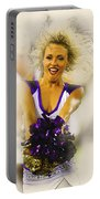 A Baltimore Ravens Cheerleader  Portable Battery Charger