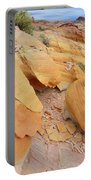 A Band Of Gold In Valley Of Fire Portable Battery Charger