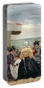 A Beach Scene Portable Battery Charger