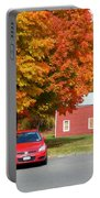 A Beautiful Country Building In The Fall 4 Portable Battery Charger