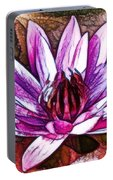 A Beautiful Purple Water Lilies Flower Portable Battery Charger