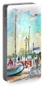 A Beautiful Street In Watchet Portable Battery Charger