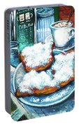 A Beignet Morning Portable Battery Charger