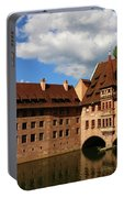 A Big Sky Over Old Architecture Portable Battery Charger