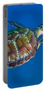 A Black Sea Turtle Off The Coast Portable Battery Charger by Michael Wood