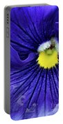 A Blue Pansy Portable Battery Charger