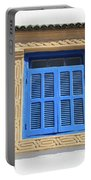 A Blue Window In Morocco Portable Battery Charger