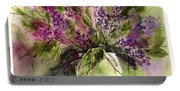 A Bouquet Of May-lilacs Portable Battery Charger