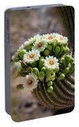 A Bouquet Of Saguaro Blossoms Portable Battery Charger