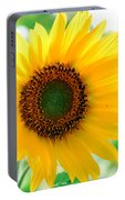 A Bright Yellow Sunflower Portable Battery Charger