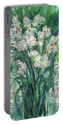 A Bunch Of Orchid Paintings Portable Battery Charger