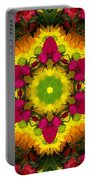 A Burst Of Flowers Kaleidoscope Portable Battery Charger