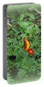 A Butterfly In The Garden Portable Battery Charger