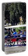 A Carriage Ride Through The Streets Of Katakolon Greece Portable Battery Charger