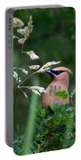 A Cedar Waxwing Facing Left Portable Battery Charger