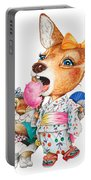A Child Deer And Squirrel At The Summer Festival Portable Battery Charger