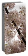 A Cloud Of Pastel Pink Cherry Blossoms Celebrating The Arrival Of Spring  Portable Battery Charger