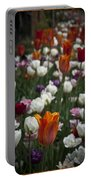 A Cluster Of Tulips Portable Battery Charger