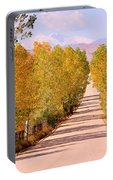 A Colorful Country Road Rocky Mountain Autumn View  Portable Battery Charger