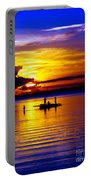 A Colorful Golden Fishermen Sunset Vertical Print Portable Battery Charger