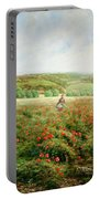 A Corner Of The Field In Bloom Portable Battery Charger