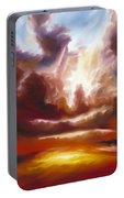 A Cosmic Storm - Genesis V Portable Battery Charger by James Christopher Hill