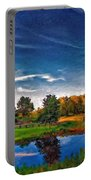 A Country Place Painted Version Portable Battery Charger
