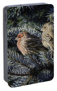 A Couple Of House Finch Portable Battery Charger by LeeAnn McLaneGoetz McLaneGoetzStudioLLCcom