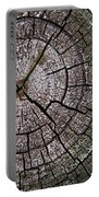 A Cut Above - Patterns Of A Tree Trunk Sliced Across Portable Battery Charger