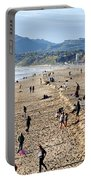 A Day At The Beach In Santa Monica Portable Battery Charger