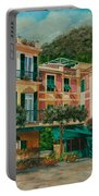 A Day In Portofino Portable Battery Charger by Charlotte Blanchard